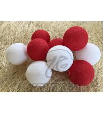 Гирлянда из хлопковых шаров «Клубничный чизкейк», 20 ламп