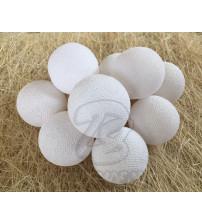 Гирлянда из хлопковых шаров «Белая», 20 ламп