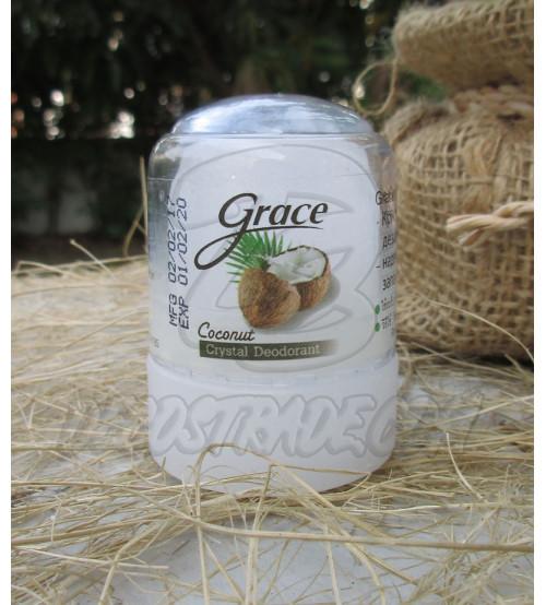 Дезодорант-кристалл «Crace» с кокосом от Novovlife, Crace Deodorant Coconut, 50 гр
