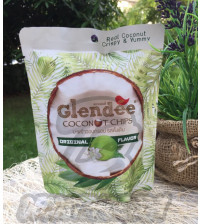 Кокосовые чипсы без добавок от Glendee, Coconut chips, 40 гр