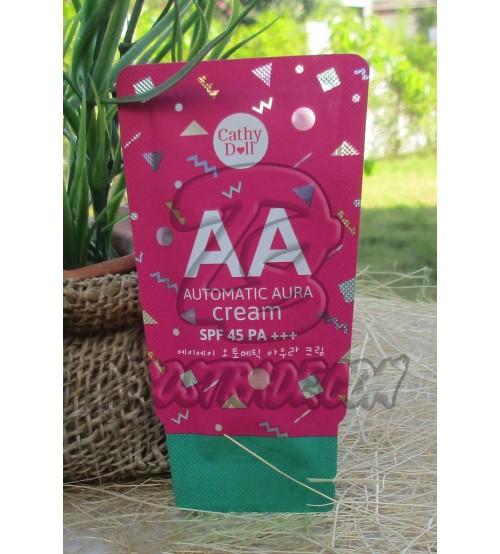 АА крем с защитой от солнца SPF 45 PA+++ от Cathy Doll, AA Automatic Aura Cream SPF 45 PA+++, 6 гр