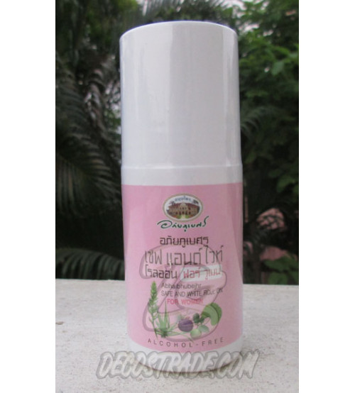 Лечебный травяной дезодорант для женщин с гуавой и мангостином от Abhai Herb,  Safe and white roll on for women, 50 гр