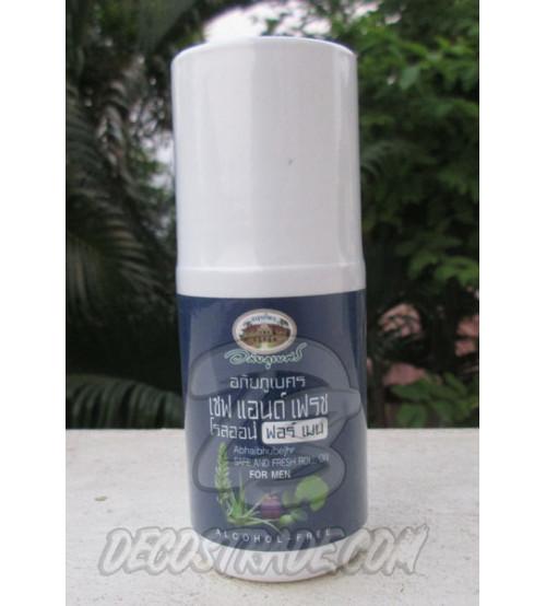 Лечебный травяной дезодорант для мужчин с гуавой и мангостином от Abhai Herb, Safe And Fresh Roll On For Men, 50 гр