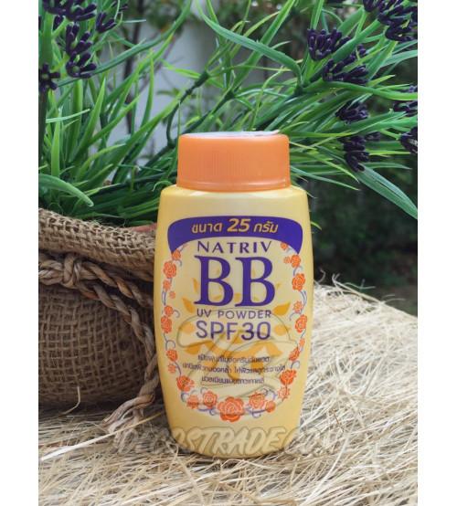 Рассыпчатая BB пудра от NATRIV с UV защитой SPF 30, 25 гр