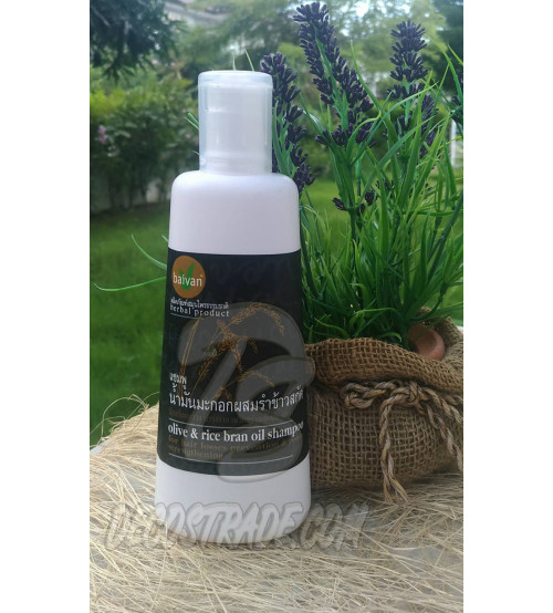 "Шампунь на основе оливкового и рисового масел для сухих волос от  Baivan, ""Olive Oil & Hom-Nin Rice Shampoo"", 300 мл"