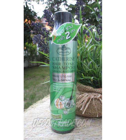 Укрепляющий шампунь для роста волос с Женьшенем и Витаминами от Catherine, Hair Tonic Shampoo Ginseng & Vitamins, 220 гр