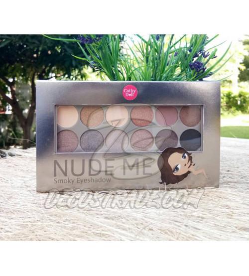 Палетка теней №02 «Smoky» для создания нюд-макияжа Cathy Doll, Nude Me Eyeshadow №02 «Smoky», 12 оттенков