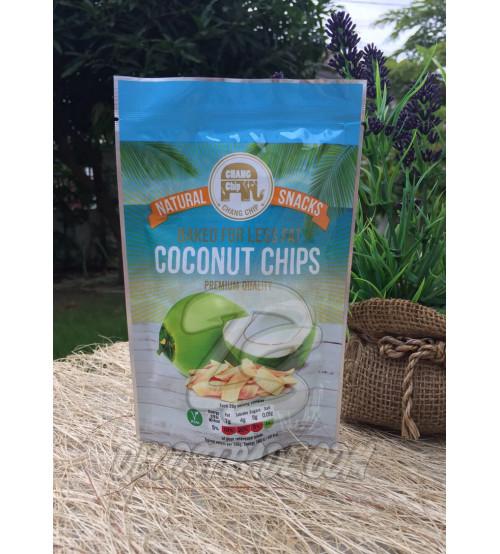 Натуральные кокосовые чипсы Chang Ship, Natural Snacks Coconut Chips, 40 гр