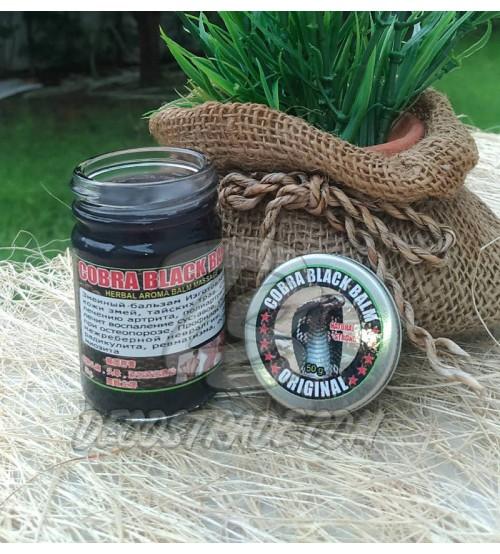 Тайский черный бальзам с ядом кобры, Cobra Black Balm Original, 50 гр