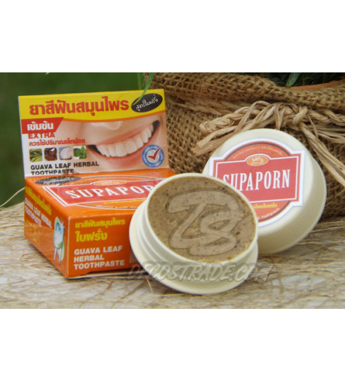 Зубная паста на основе листье гуавы от Supaporn, Guava Leaf Toothpaste, 25 гр