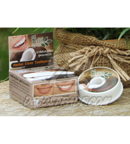 """Натуральная зубная паста с маслом кокоса """"Herbal Clove Toothpaste (Coconut Oil Formula)"""" от Bio Way, 25 гр"""