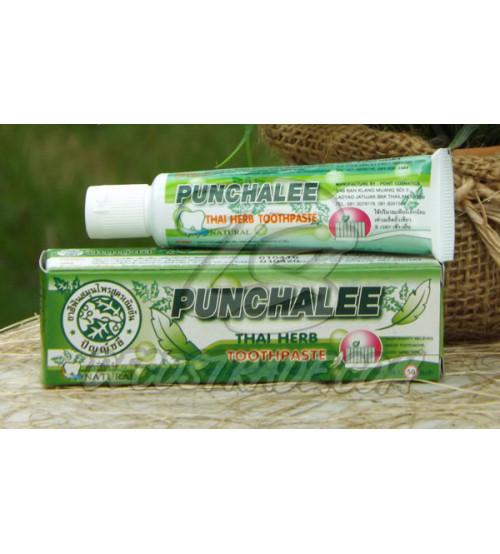 Зубная паста на тайских травах от Punchalee в тубе, Thai Herb Toothpaste, 35 гр