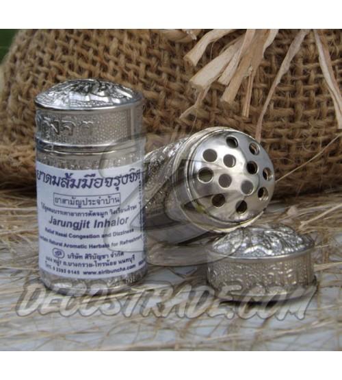 Традиционный тайский травяной ингалятор в металлической банке Jarungjit, 40 гр