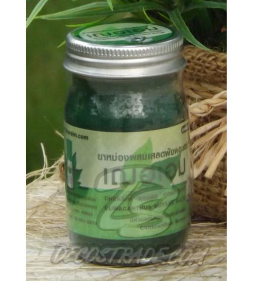Зеленый тайский бальзам с клинакантусом от Cher-Aim Brand, Clinacanthus nutans (Burm.f.), 65 гр