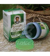 Тайский бальзам зеленый (охлаждающий)  от Wangprom Herb, Green Balm, 50 гр