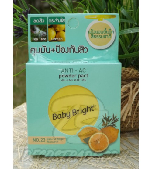 Пудра для лица против акне с маслом чайного дерева и лимоном от Baby Bright, Tea Tree & Lemon Anti-Ac, 6 гр