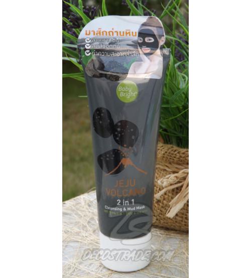 Пенка и маска «2 в 1» с вулканической глиной с острова Чеджу от Bady Bright, Jeju Volcano 2 in 1, Cleaning & Mud Mask, 50 гр