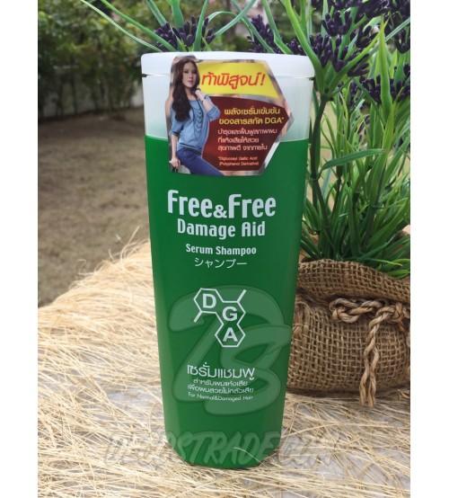 Безсульфатный шампунь для нормальных и поврежденных волос от Free&Free Damage Aid, Serum Shampoo For Normal&Damaged Hair, 180 мл