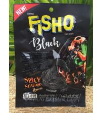 Черная рыбная соломка «Пряные морепродукты» от Fisho, Black Spicy Seafood Flavour, 25 гр