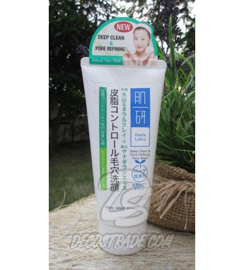 Крем-пенка для умывания «Для чувствительной кожи, склонной к аллергическим реакциям, очищение пор» от Hada Lado, Deep Clean & Pore Refining Face Wash, 100 мл
