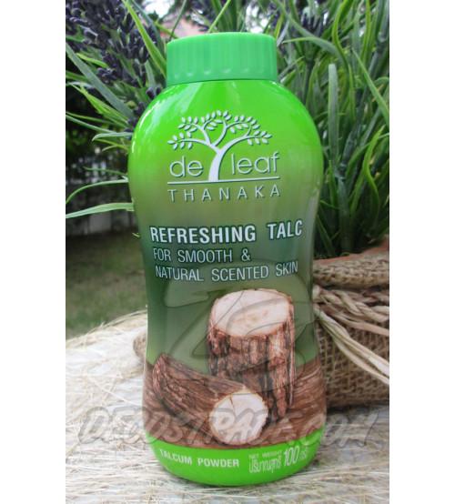 Натуральная освежающая пудра или тальк для кожи из Танака от De Leaf Thanaka, Talcum Powder, 100 гр
