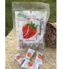 Жевательные молочные конфеты «Клубника» My Chewy, Milk Candy Strawberry Flavour, 67 гр
