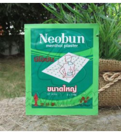 Ментоловый пластырь для облегчения мышечных и суставных болей Neobun, Menthol Plaster Pain Relief Muscle Ache, 2 шт 8x11 см