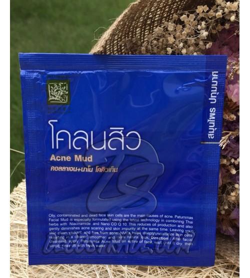 Грязевая маска для лица против акне от Patummas, Face Pack Acne Mud, 10 гр