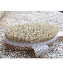 Щетка с натуральной щетиной для душа и массажа от Phutawan, Bath Accessories wooden bath brush with belt