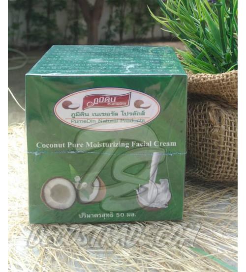 Кокосовый увлажняющий крем для лица от PumeDin Natural Products, Coconut Pure Moisturizing Facial Cream, 50 мл