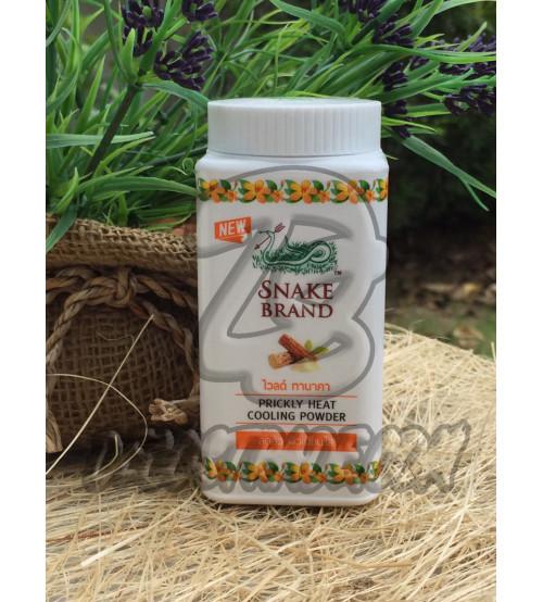 Охлаждающая тальк-пудра с защитой от солнца «Танака» от Snake Brand, Wild Thanaka Prickly Heat & Cooling Powder, 50 гр