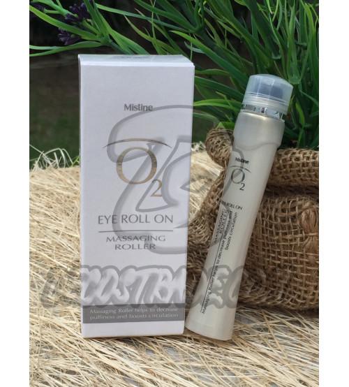 Гель-сыворотка для кожи вокруг глаз О2 с массажным роликом от Mistine, Eye O2 Roll on Massaging Roller, 9 мл
