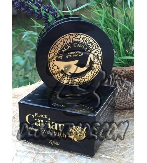 Гидрогелевые патчи для глаз с черной икрой от Esfolio, Black Caviar Hydrogel Eye Patch, 60 патчей