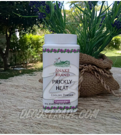 Охлаждающая тальк-пудра «Лаванда» от Snake Brand, Prickly Heat Cooling & Powder Lavender, 50 гр