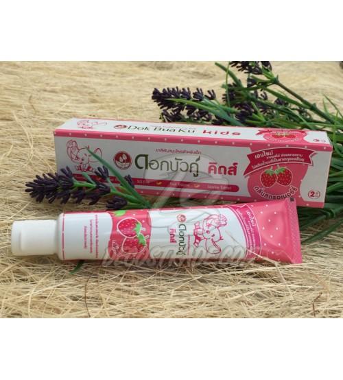 Детская зубная паста от 2 лет «Клубничная» от Twin Lotus, Herbal Toothpaste For Kids Strawberry Flavor, 35 гр