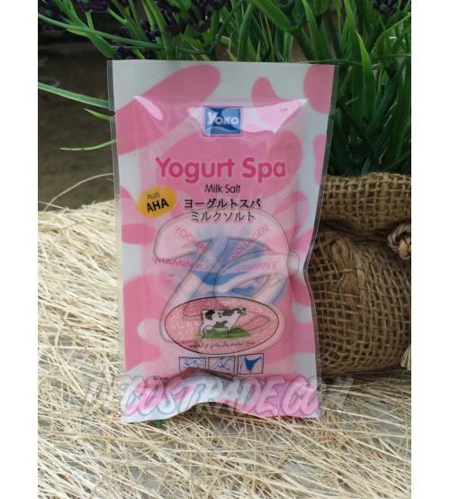Спа-соль для тела «Молоко и йогурт» осветляющая от Yoko, Yogurt Spa Milk Salt, 50 гр