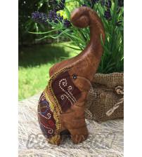 Деревянный слоник «Коричневый», Elephant Wood Brown, 136 гр