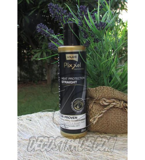 Сыворотка с термозащитой для идеальной гладкости волос от Lolane, Heat Protection Straight, 200 мл
