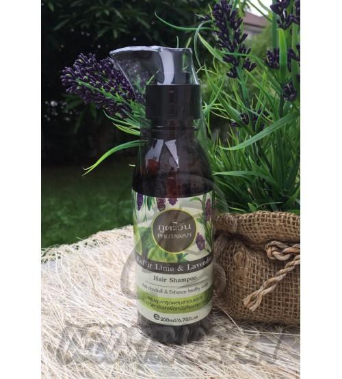 Шампунь против перхоти «Каффир лайм и Лаванда» от Phutawan, Kaffir lime & Lavender hair shampoo, 200 мл
