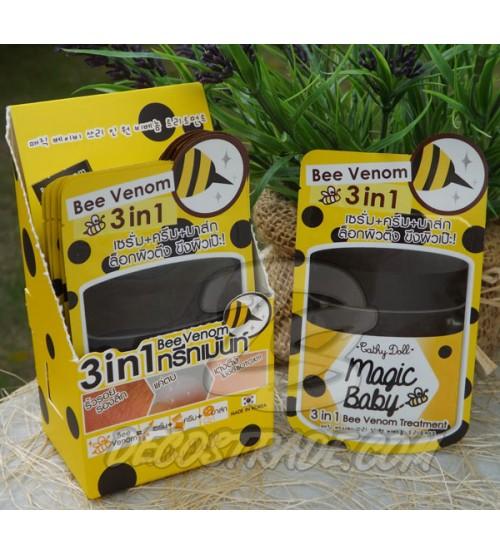 Крем для лица с пчелиным ядом 3 в 1 от Cathy Doll, Magic baby 3 in 1 Bee Venom Treatment, 6 гр