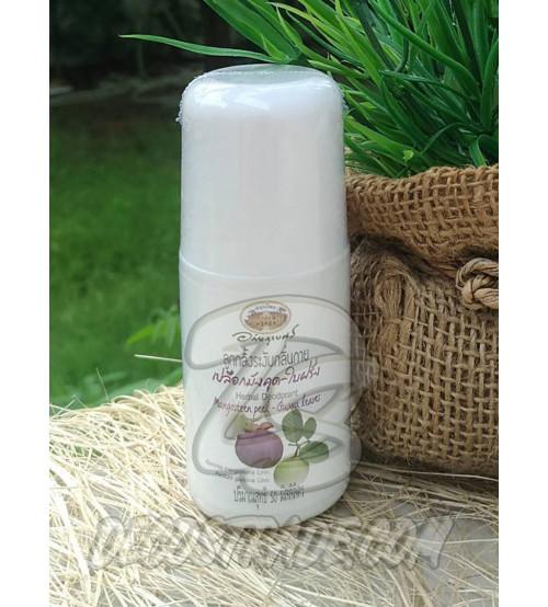 Натуральный дезодорант с Мангостином и Гуавой от Abhai Herb, Herbal Deodorant Mangosteen Peel-Guava leaves, 50 мл