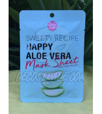 Тканевая маска с Алоэ от Cathy Doll, «Sweety Recipe» Happy Aloe Vera Mask Sheet, 25 гр