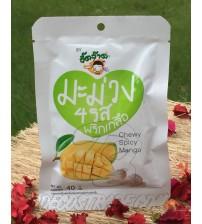 Жевательные конфеты «Острый манго» Jeedjard Chewy Spicy Mango, 40 гр