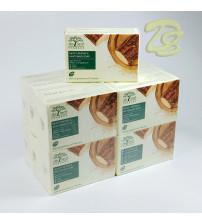 Мыло для увлажнения и отбеливания кожи  De Leaf Thanaka Moisturizing & Whitening Soap 100 g. (набор 12 шт)