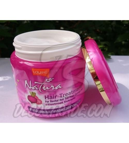 Лечебная маска для волос с экстрактом свеклы от Lolane, Hair treatment for revital hair fall from damage + beetroot, 250 гр