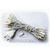 Провод для электрической гирлянды с евровилкой на 20 лампочек