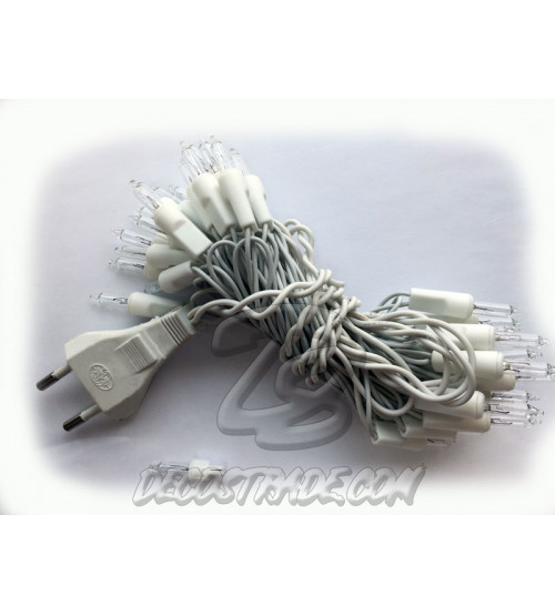 Провод для электрической гирлянды с евровилкой на 35 лампочек