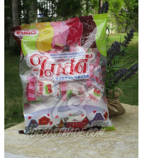 """Нежный зефир """"Фруктовое ассорти"""", Gentle Marshmallows With Fruit, 120 гр"""