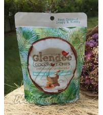 Кокосовые чипсы с морской солью и кокосовой карамелью от Glendee, Coconut Chips Sea Salt Caramel Flavor, 40 гр
