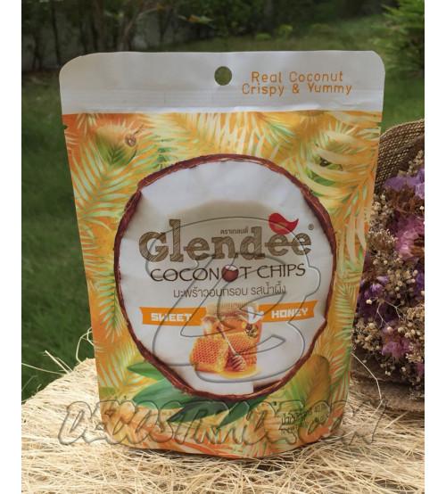 Кокосовые чипсы с медом от Glendee, Coconut chips honey, 40 гр